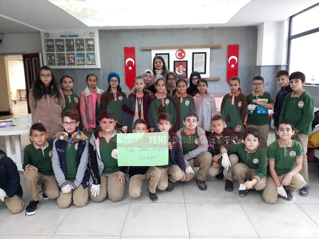 Ömer Halisdemir İmam Hatip  Ortaokulu'ndan Çevre Projesi
